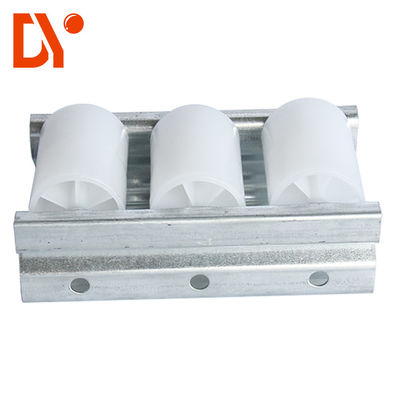White Color Plastic Roller Track Cold Pressing / Rolling Rust Proof Custom Length