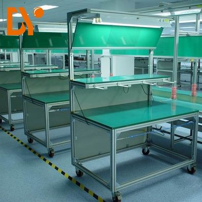 Pasang Saluran Elektronik Workstation Bench Custom Size Cold Pressing / Rolling