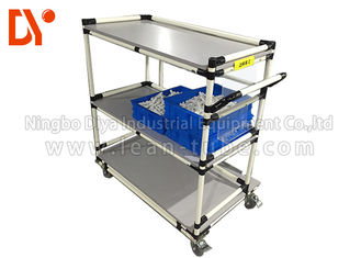 Daur ulang Tote Cart Turnover Trolley Cold Welded Glossy Surface Untuk Workshop