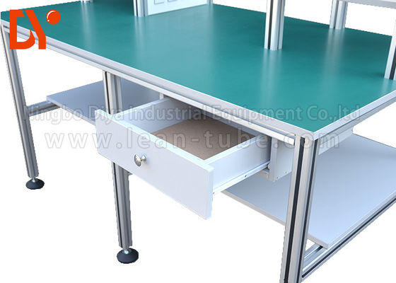 Bengkel Industri Anti Statis Workbench, Aluminium Extrusion Workbench OEM