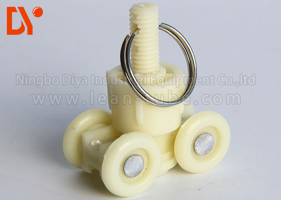 Welded Lean Pipe Clamp Fittings Ringan Desain Kustom Untuk Cart Castor