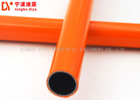 Profesional Orange Lean Pipe Colded Roll Bar PE / ABS Dilapisi ISO Standar