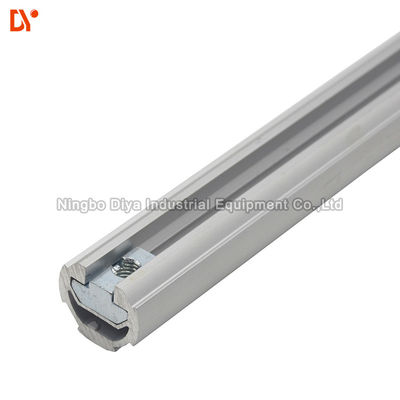 OD 28MM Thinckness 1.7mm Lean Tube T Slot Aluminium Frame Untuk Sistem Pipa