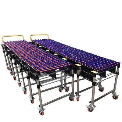 Customizable Gravity Fleksibel ABS Plastik Roller Conveyor Ukuran Disesuaikan