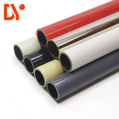 Colourful Lean Tube Cold Rolled PE Plastik Coated 1.5mm Tebal GB / T 9711.2-1999